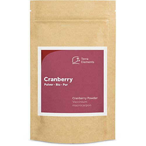 Terra Elements Bio Cranberry Pulver, 100 g I 100% rein I Vegan I Rohkost von Terra Elements