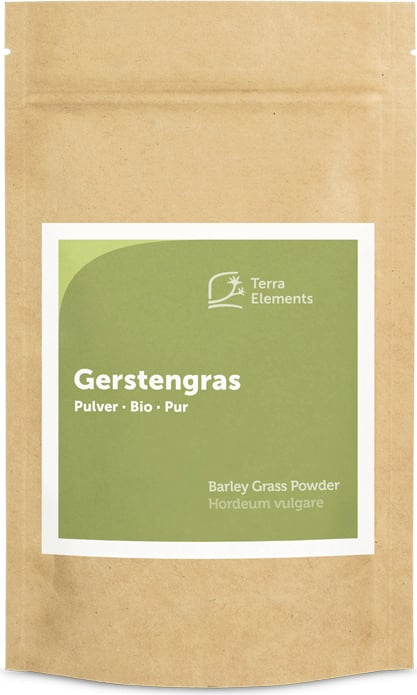 Terra Elements Gerstengras Pulver Bio - 125 g von Terra Elements