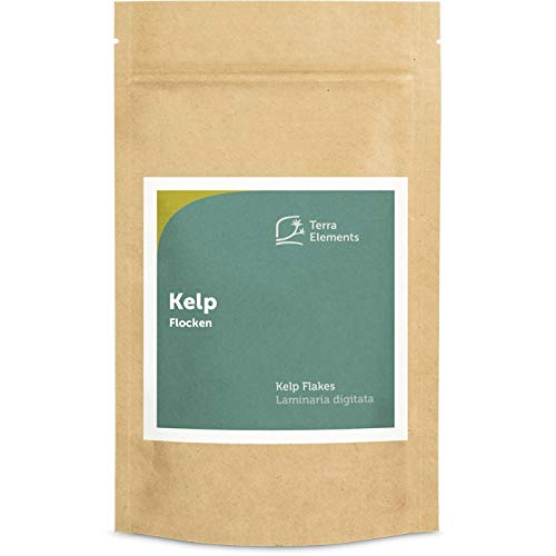 Terra Elements Kelp Flocken 100 g I Laminaria I Wildwuchs I 100% rein I Vegan von Terra Elements