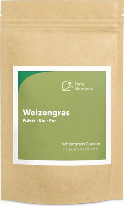 Terra Elements Weizengras Pulver Bio - 125 g von Terra Elements