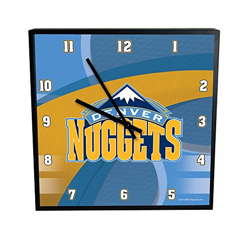 The Memory Company NBA Denver Nuggets Offizielles Karbonfaser quadratisch Uhr, Multicolor, One Size von The Memory Company