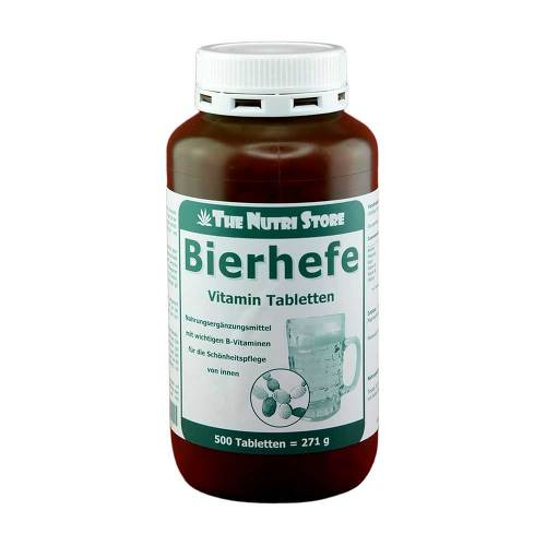 Bierhefe 500 mg Vitamin Tabletten von The Nutri Store