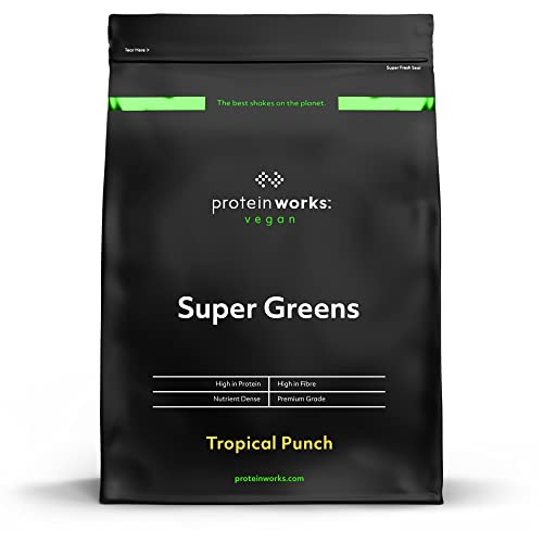 THE PROTEIN WORKS Super Greens, Tropical Punch, 500g von The Protein Works