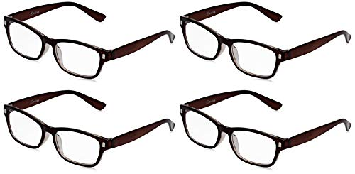 The Reading Glasses Company Die Lesebrille Unternehmen Braun Leser Wert 4er-Pack Herren Frauen RRRR77-2 +1,00 von The Reading Glasses