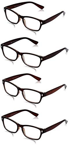 The Reading Glasses Company Die Lesebrille Unternehmen Braun Leser Wert 4er-Pack Herren Frauen RRRR77-2 +2,50 von The Reading Glasses