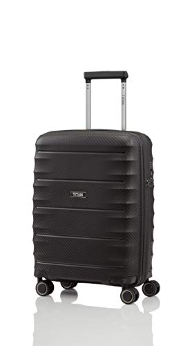Titan Highlight 4-Rollen-Kabinentrolley S 55 cm Black von Titan