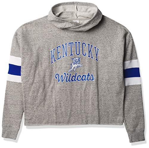 Top of the World Damen Homecoming Crossover Panel Sleeve Hoodie Sweatshirt, Damen, Homecoming Crossover Panel Sleeve Hoodie, Kentucky Wildcats Oxford Heather, X-Large von Top of the World