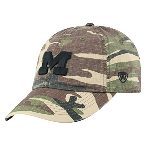 Top of the World Men's Adjustable American Heroes Icon hat, Michigan Wolverines Camo von Top of the World