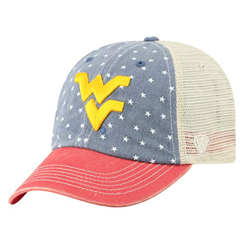 Top of the World West Virginia Mountaineers Men's Adjustable Freedom Icon hat, Adjustable von Top of the World