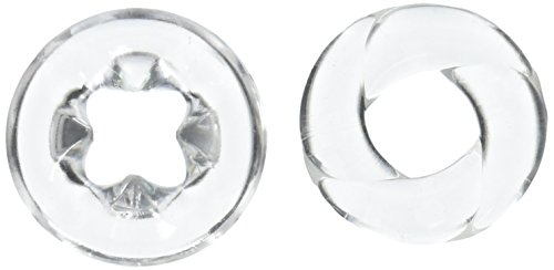 Topco Adam Male Toys, Cock N Load Cock Rings, clear, Doppelpack von Topco