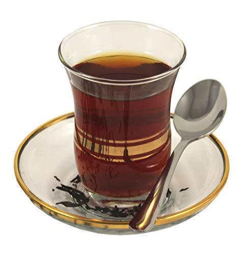 18-tlg Türkisches Tee-Set Ajda-Sultan 6 Teegläser 6 Untersetzer 6 Teelöffel