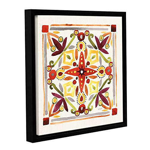 Anne Tavoletti ''Fall Blooms Tile III'' Gallery Wrapped Canvas, 14X14 von Tremont Hill
