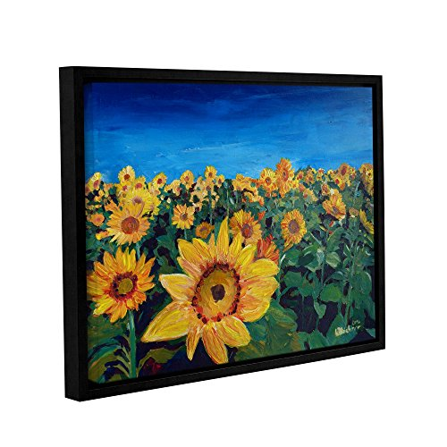 "Marcus/Martina Bleichner Kunstdruck auf Leinwand, Motiv ""Beautiful Morning At Sunflower Fields"", 35,6 x 45,7 cm von Tremont Hill"