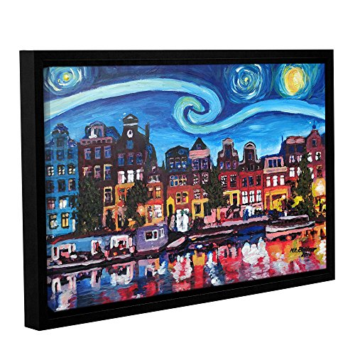 Tremont Hill Marcus/Martina Bleichner Starry Night Over Amsterdam Canal, gerahmte Leinwand 12X18 von Tremont Hill