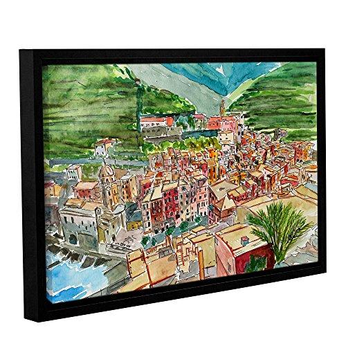 Tremont Hill Marcus/Martina Bleichner ''Vernazza A Dream of Romantic Italy'' Gallery Wrapped Floater-Framed Canvas, 12X18 von Tremont Hill