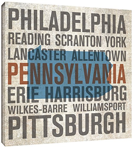 Tremont Hill Michael Mullan ''Pennsylvania'' Gallery Wrapped Canvas, 24X24 von Tremont Hill