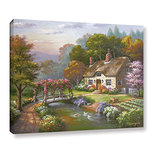 Tremont Hill Sung Kim Rose Cottage Leinwandbild, gerahmt, 91,4 x 121,9 cm von Tremont Hill