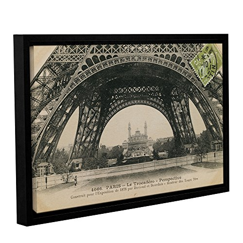 Tremont Hill Wild Apple ''Le Base De La Tour Eiffel'' Gallery Wrapped Floater-Framed Canvas, 16X24 von Tremont Hill