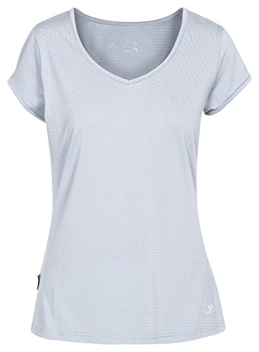 Trespass Damen Schnelltrocknendes Stretch T-shirt Mirren, Platinum, XXS, FATOTSN10006_PLTXXS von Trespass
