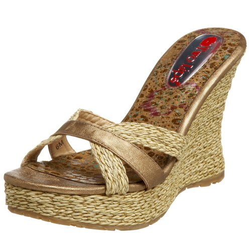 Two Lips Damen Fortune Plateau Keilsandalen, Gold (Gold), 40.5 EU von Two Lips