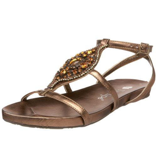 Two Lips Damen Glamour T-Strap Sandalen, Braun (Bronze), 42 EU von Two Lips