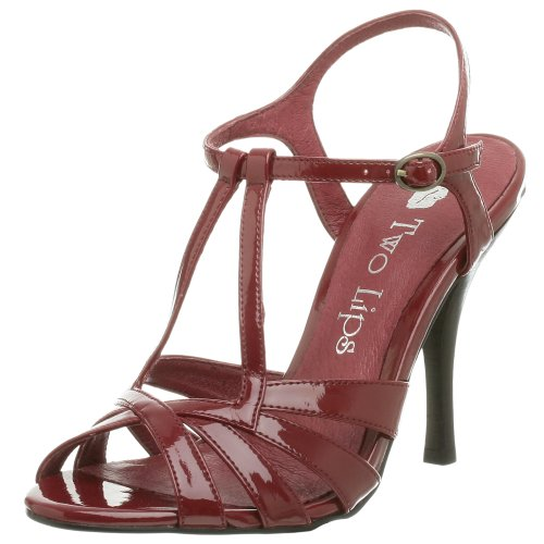 Two Lips Damen Glimmer Sandalen, Rot (Burgunderroter Lack), 38.5 EU von Two Lips