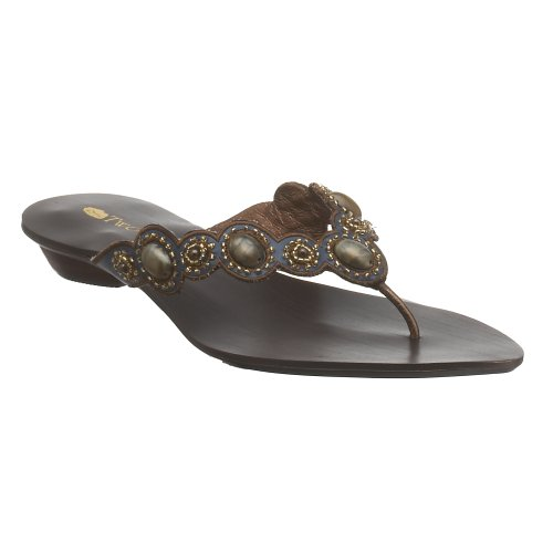 Two Lips Rachelle Damen Zehensandalen verziert, Gold (Bronze), 37 EU von Two Lips