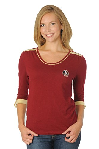 UG Apparel Damen Nebraska Cornhuskers aufrollbar Top, Damen, Garnet/Gold von UG Apparel