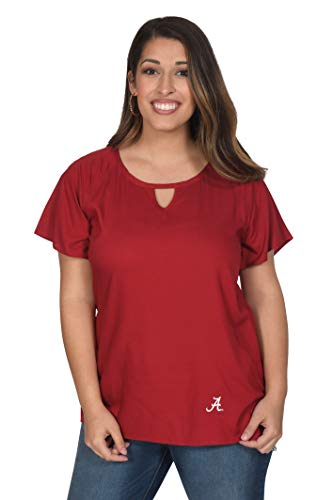 UG Apparel NCAA Alabama Crimson Tide Raglan Tunic, Crimson, Small von UG Apparel