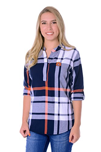 UG Apparel NCAA Auburn Tigers Adult Women Plaid Tunic, X-Large, Navy/Orange/White von UG Apparel