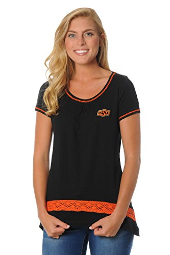 UG Apparel NCAA Damen Häkel-Saum Top, Damen, Orange, X-Large von UG Apparel