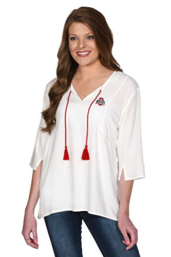 UG Apparel NCAA Damen Tassel Tunika, Damen, Tassel Tunic, beige, Medium von UG Apparel