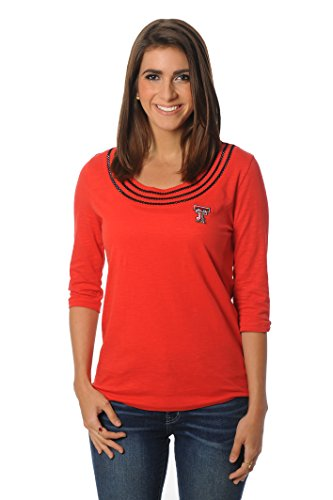 UG Apparel NCAA Frauen 'S Open Stitch Top, Damen, rot, Large von UG Apparel