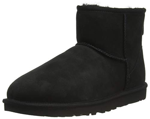 UGG Men's Classic Mini Winter Boot, Black, 17 US/17 M US von UGG