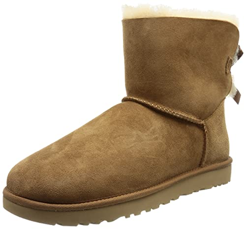UGG Damen Mini Bailey Bow Ii Schlupfstiefel, Braun (Chestnut), 37 EU (4 UK) von UGG