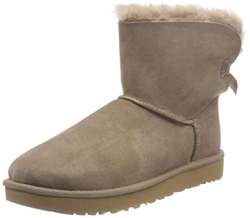 UGG Women's Mini Bailey Bow II Classic Boot, Caribou, 41 EU von UGG