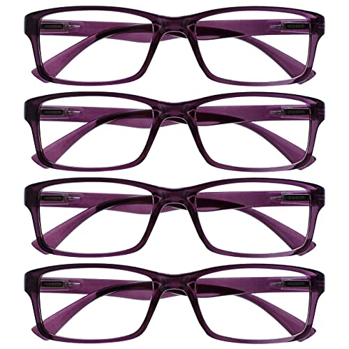The Reading Glasses Company Die Lesebrille Unternehmen Lila Leser Wert 4er-Pack Designer Stil Herren Frauen RRRR92-5 +3,00 von The Reading Glasses