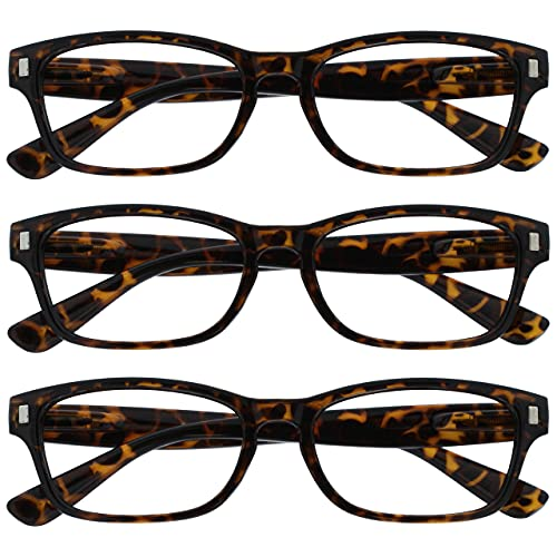 UV Reader Braune Schildpatt Lesebrille Wert 3er-Pack Herren Frauen UVR3PK010 +2,00 von The Reading Glasses Company