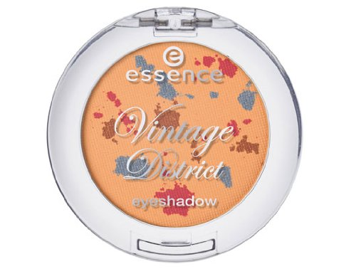 Essence Vintage District Eyeshadow Nr. 01 I am so Retro Farbe: Gelborange mit bunten Farbtupfern im Lidschatten. Inhalt: 2,46g Eyeshadow für einfach strahlen schöne Augen. von Unbekannt