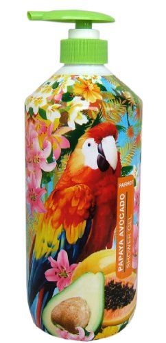 Parrot Shower Gel Papaya/Avocado, 1er Pack (1 x 1 l) von Unbekannt