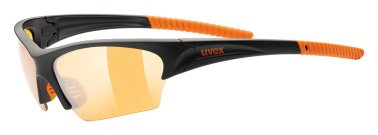 Uvex Sportsonnenbrille Sunsation, Black Mat/Orange/Lens Litemirror, One Size, 5306062212