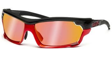 Uvex sportstyle 304 IR S530687 2399 7116 blackred/red-green brown-clear von Uvex