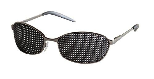 ganzfl/ächiges Raster Metall-Rasterbrille 420-RSG