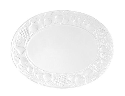 oval Größen wählbar Servierplatte Porzellan Buffetplatte Platte Dekorrand