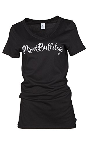 NCAA Mississippi State Bulldogs Ruth Women's Luxurious V-Neck Tee, Large, Black von Venley
