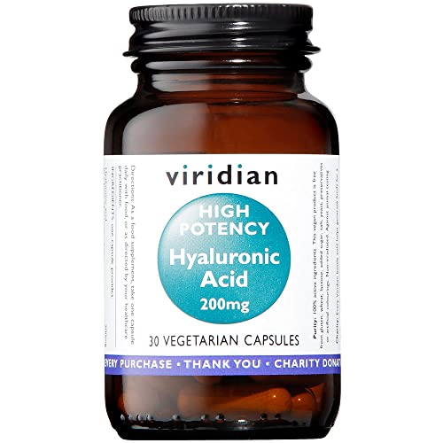 Viridian High Potency Hyaluronic Acid 200mg , 30 Veg Kappen von Viridian