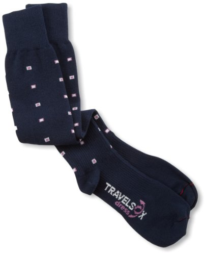 Travelsox Travel OTC Support Compression Recovery Dress Socken, TSD3000, Herren, navy, Small von Vitalsox