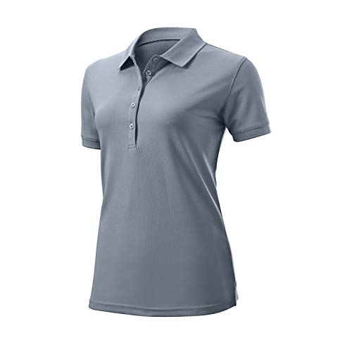 WILSON Damen Authentic Polo T-Shirt, Grau, M von WILSON