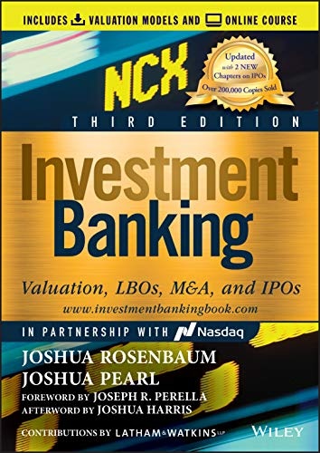 Investment Banking: Valuation, LBOs, M&A, and IPOs. (Includes Valuation Models + Online Course) (Wiley Finance Editions) von Wiley