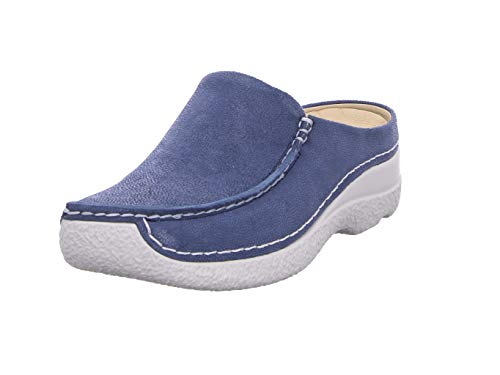 Wolky Comfort Clogs Seamy Slide - 15820 Denim Nubuk - 40 von Wolky